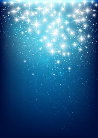 Lumières étoilées sur fond bleu
