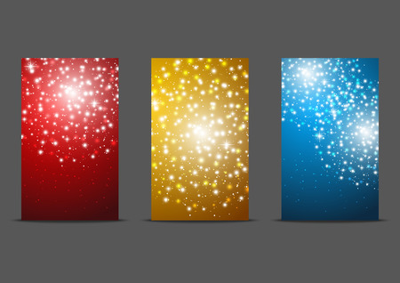 Set of 240 x 400 banners with fireworks Vector