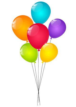 ballons de couleur pour votre conception Illustration