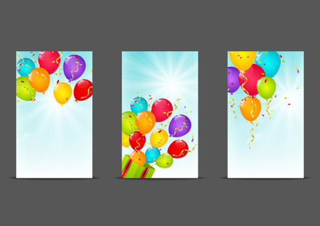 birthday celebration: Set of 240 x 400 Birthday banners Illustration