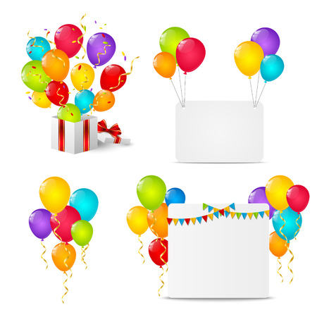 Set of Birthday objects Vector
