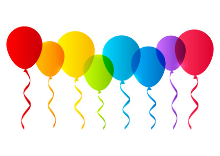Color balloons silhouettes for Your design Vector