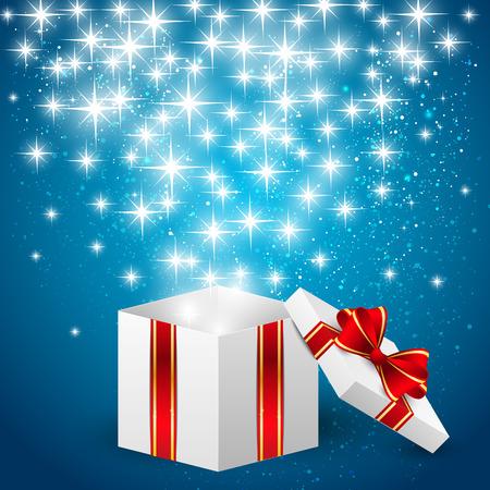 magic box: Gift box with shiny lights