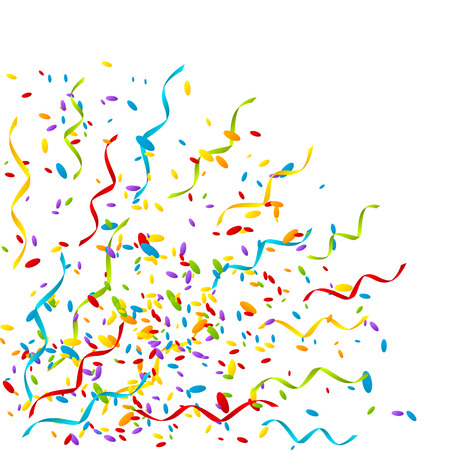 Party background with color confetti Vector