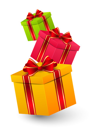 Cajas de regalo de cumpleaños Foto de archivo - 29794796