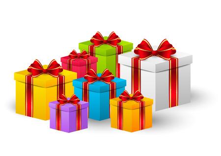 birthday present: Birthday gift boxes Illustration
