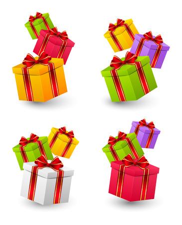 cadeau anniversaire: Ensemble de bo�tes cadeau d'anniversaire