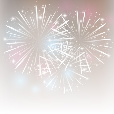 Abstract background with shiny fireworks Çizim
