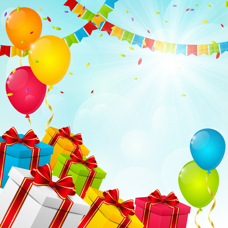 Birthday background for Your design Vector
