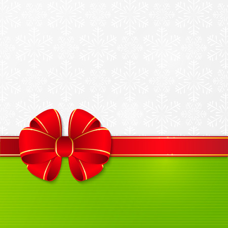 graphics design: Christmas background with red ribbon
