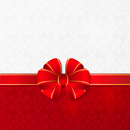 gold and red: Christmas background with red ribbon