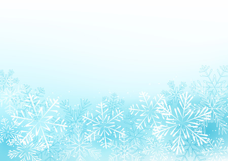 Winter background with white snowflakes 向量圖像
