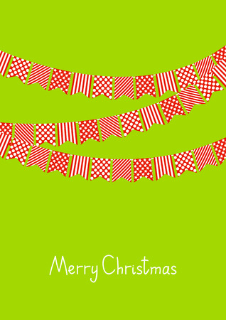 Christmas card with party flags Vector