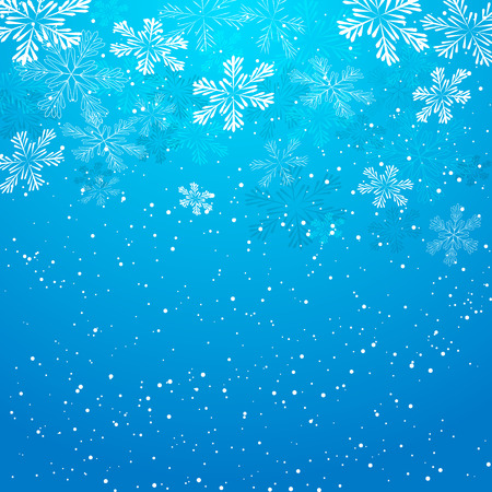 Christmas background with white snowflakes Ilustração
