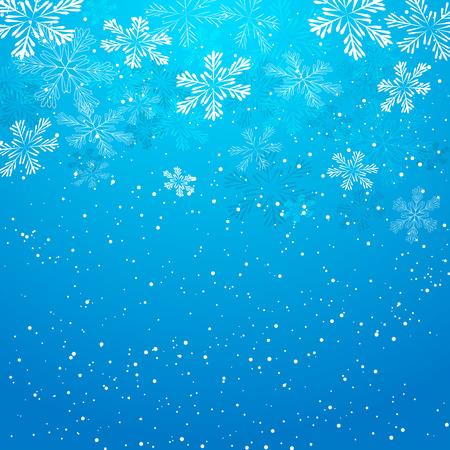 the snowflake: Christmas background with white snowflakes Illustration