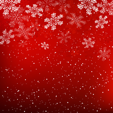 Christmas background with white snowflakes Иллюстрация