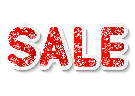 sale sign: Christmas sale concept for Your design Illustration