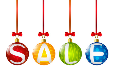 Christmas sale concept for Your design Vector