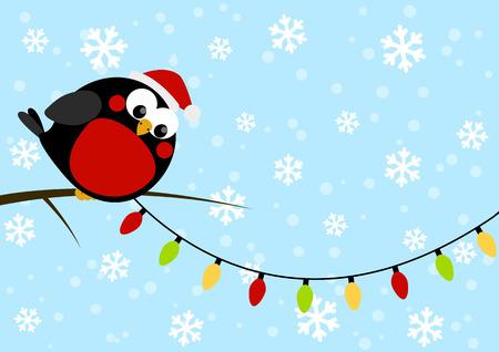 little bird: Peque�o p�jaro lindo con las bombillas