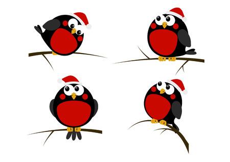 一連の漫画のクリスマスの鳥