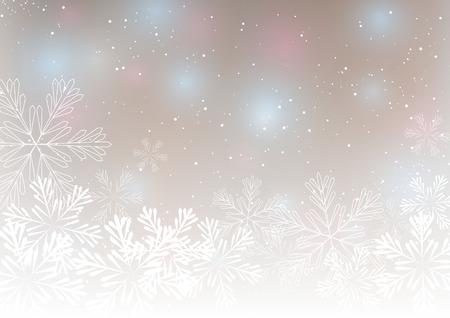 Abstract Christmas background with snowflakes 矢量图像
