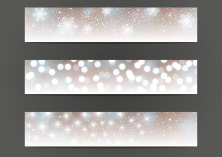 Set of 500 x 100 shiny banners Vector