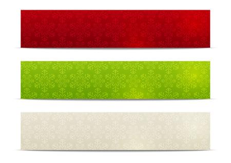 Set of horizontal Christmas banners 500 x 100 size Vector