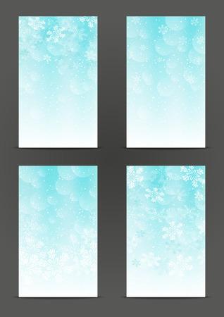 Set of 240 x 400 Christmas banners Vector