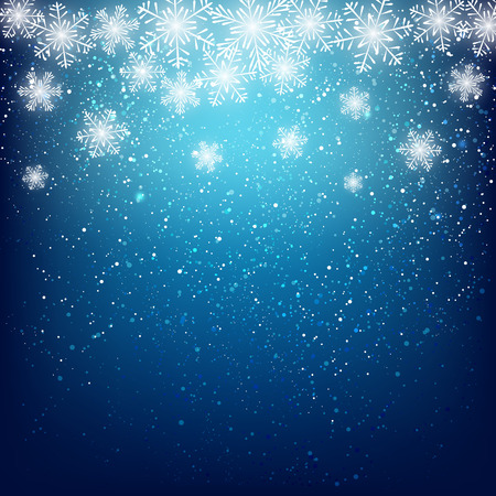 greetings from: Abstract snowflake background for Your design Illustration
