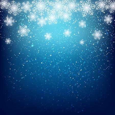 diciembre: Copo de nieve de fondo para su diseño