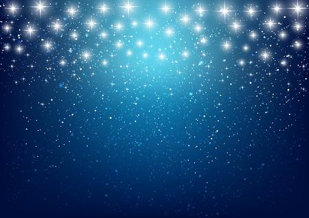 青色の背景色の光沢のある星 写真素材 - 33882309