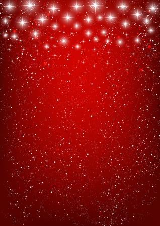 fondo elegante: Estrellas brillantes sobre fondo rojo