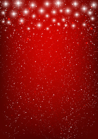 Shiny stars on red background Stock Illustratie