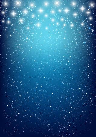 青色の背景色の光沢のある星  イラスト・ベクター素材