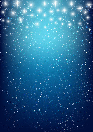 Shiny stars on blue background 免版税图像 - 33971613