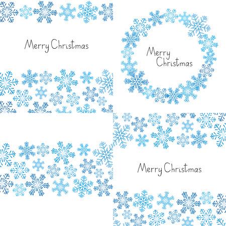 xmas background: Xmas snowflakes background for Your design Illustration