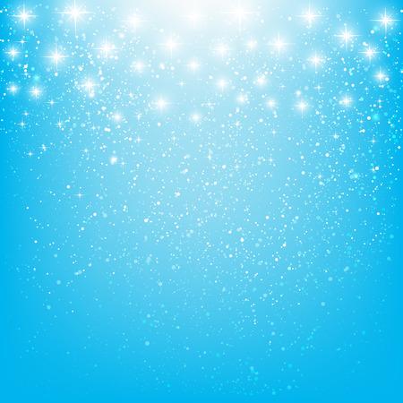 lucero: Brillantes estrellas sobre fondo azul  Vectores