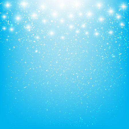 glowing star: Shiny stars on blue background