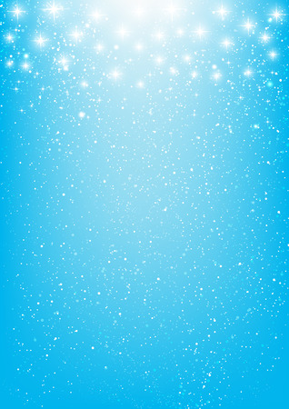 christmas parties: Shiny stars on blue background