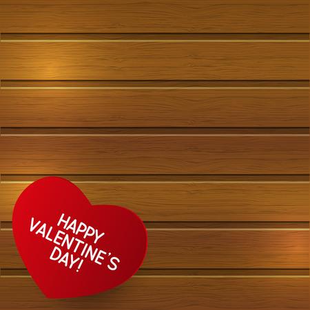 paper background: Papier hart op houten achtergrond Stock Illustratie
