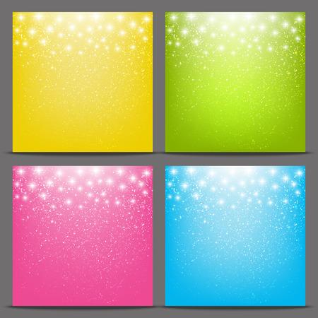 色星空の背景のセット  イラスト・ベクター素材
