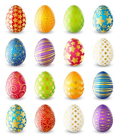 색상 부활절 달걀의 설정