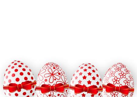 Easter eggs on white background Vector