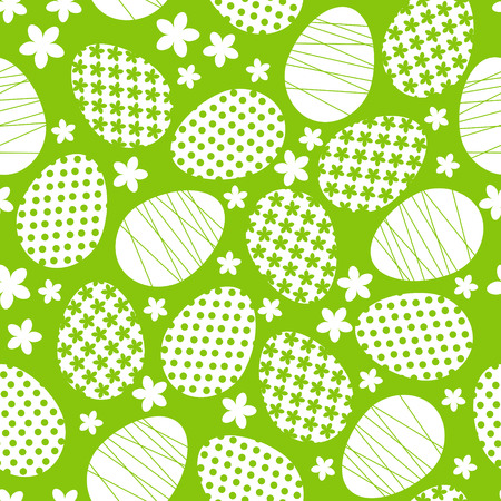 Seamless pattern with Easter eggs Vector