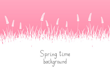 Pink spring background with place for text Vector