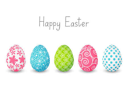 Easter eggs with color patterns