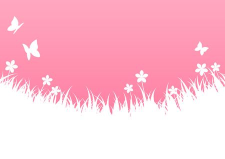 light pink: Pink spring background with place for text
