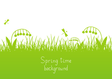 your text: Spring background with place for Your text Illustration