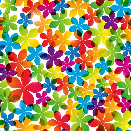 Patrón transparente con flores de color brillante