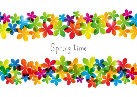 spring: Floral background for Your design Illustration
